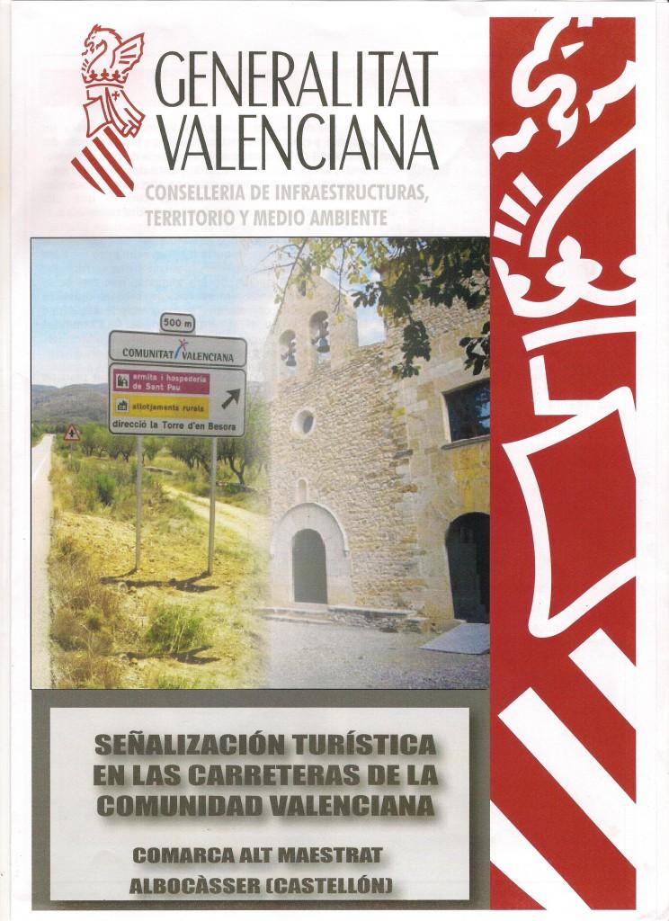 señalizacion turistica en las carreteras de la comunidad valenciana